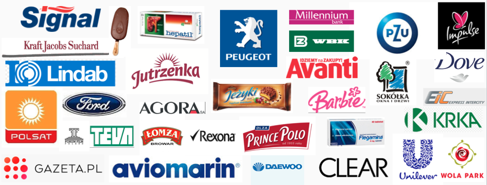 marki dla których pracowaliśmy